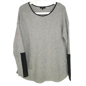 RW & Co Tunic Sweater with Faux Leather Cuffs